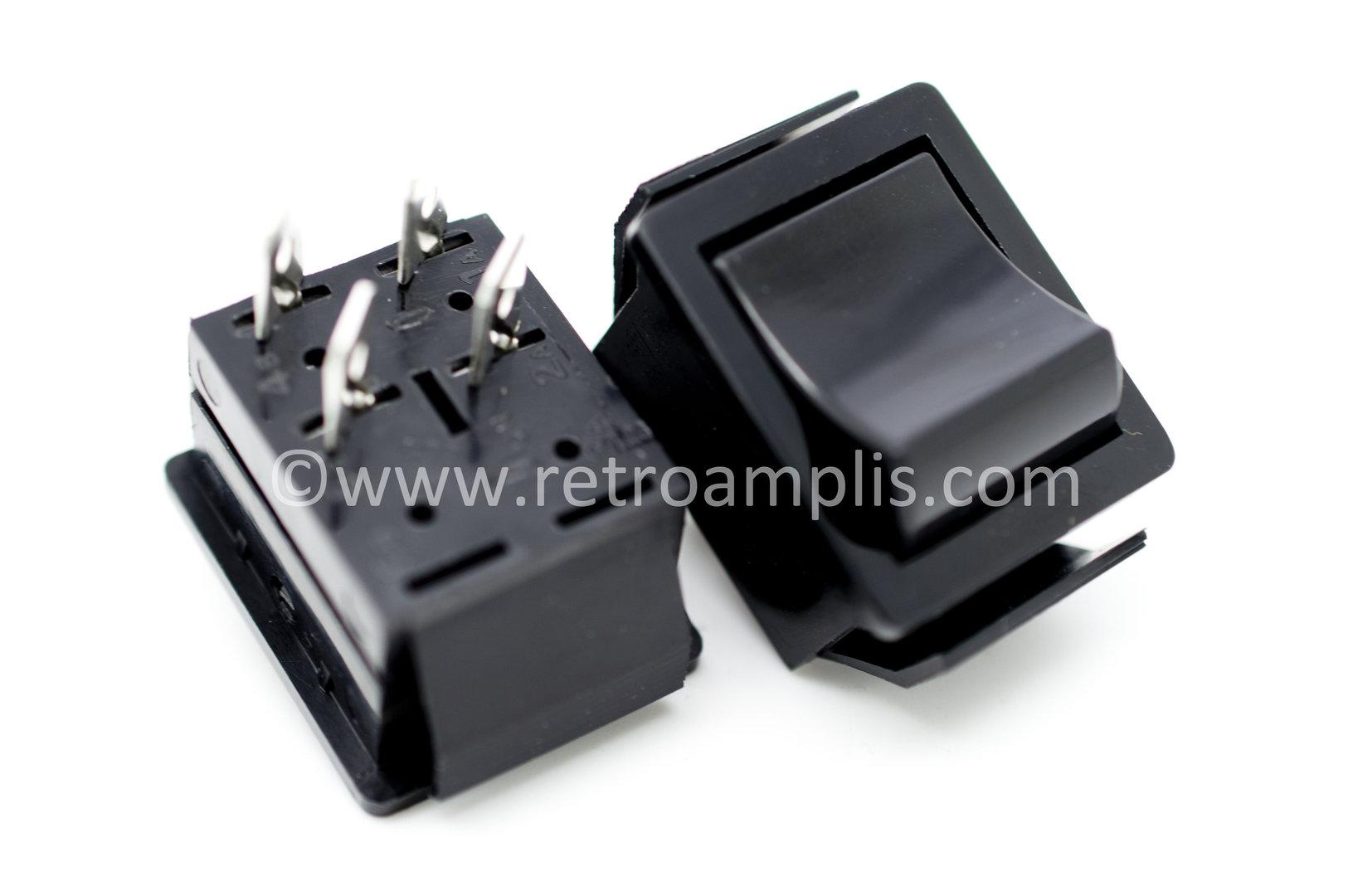 Marshall TSL Standby DPST switch, black - Retroamplis