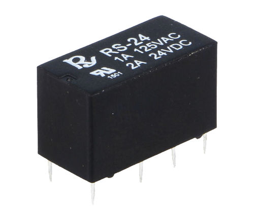 24VDC Coil Relay for Bugera, DPDT ,  20x10x11mm