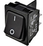 Conmutador DPST negro ON-OFF 10A/250V, SCI