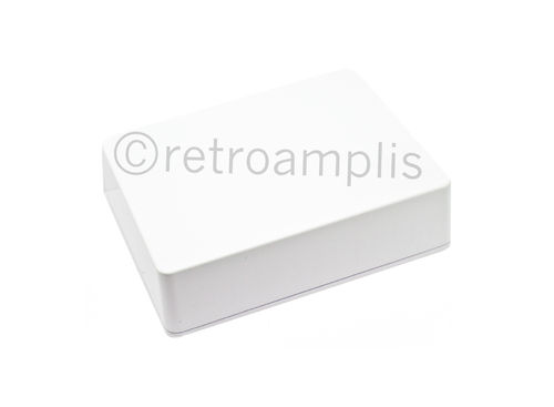 Caja aluminio tipo BB color blanco
