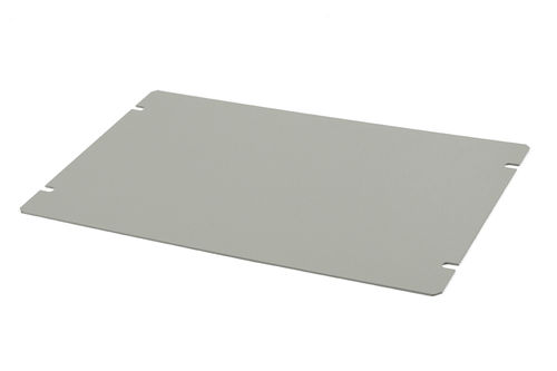 Bottom plate for steel chassis HAMMOND 1431-16. ASA 61 smooth grey.